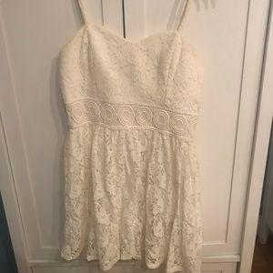 Kohl's short white lace dress